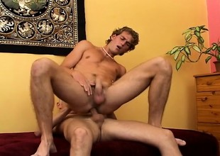 Horny young cocksucker loves back get his anal opening banged deep and fast