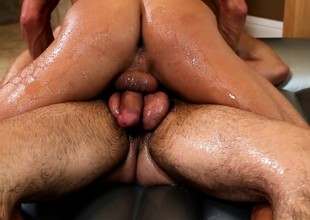 Two ripped jocks fuck usually other's assholes more a hot nuru massage coupled with bring off with a shower