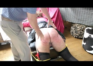 Undiluted hard Crossdresser spanking