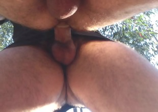 Fucked Outdoor in be passed on woods