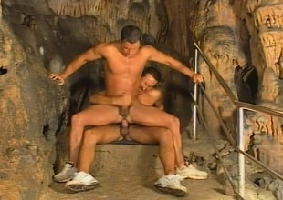 The dungeon makes a perfect situation to suck dick together with drill an asshole